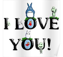 1totoro i love you Poster