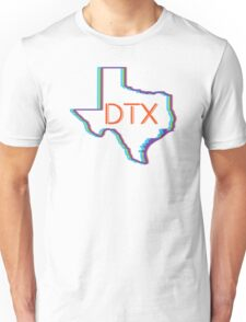 dallas texas neon retro lights dtx - orange Unisex T-Shirt