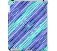 Hand-Painted Abstract Stripes Teal Violet Turquoise Purple iPad Case/Skin