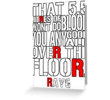 Rayg #2 Greeting Card