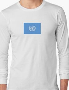 United Nations Flag T-Shirt Sticker UN Logo Symbol Long Sleeve T-Shirt