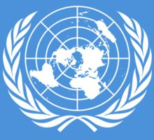 United Nations Flag T-Shirt Sticker UN Logo Symbol Sticker
