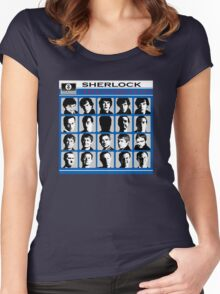 Sherlock- A Hard Day's Night  Women's Fitted Scoop T-Shirt