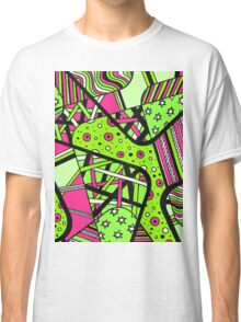 Miniature Aussie Tangle 12 Spring Variation Green and Pink Classic T-Shirt