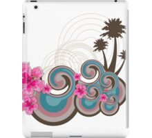Tropical Waves & Fuchsia Pink Hibiscus iPad Case/Skin