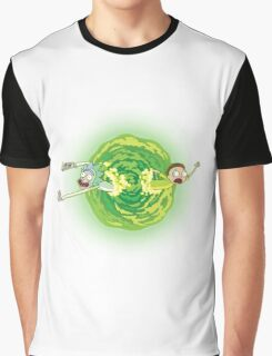 Rick And Morty Spin Graphic T-Shirt
