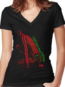 Tribe Called Quest - The Low End Theory Women's Fitted V-Neck T-Shirt