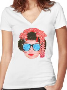 Daytime cool Women's Fitted V-Neck T-Shirt