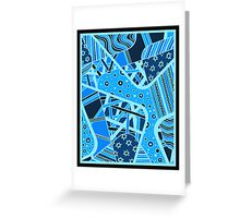 Miniature Aussie Tangle 12 Invert Blue Greeting Card