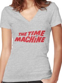 The Time Machine (1960) Movie Women's Fitted V-Neck T-Shirt