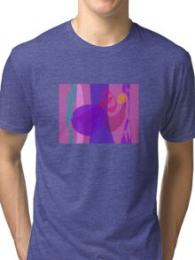 Abstract Forest Image Cool Soft Tri-blend T-Shirt