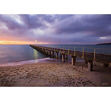 Sunset at Dromana Pier, Mornington Peninsula Photographic Print