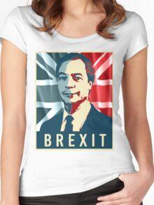 Nigel Farage Brexit Women's Fitted Scoop T-Shirt