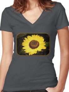 Sunflower ~ Your Dose of Sunshine Women's Fitted V-Neck T-Shirt