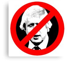 Anti Boris Johnson Canvas Print