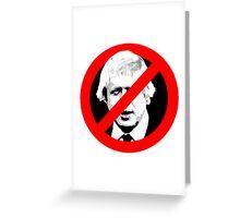 Anti Boris Johnson Greeting Card