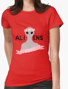 Aliens Exist Womens Fitted T-Shirt