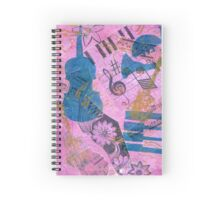 Pink Serenade Faux Chine Colle Spiral Notebook