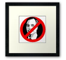 Anti Nigel Farage Framed Print