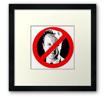 Anti David Cameron Framed Print