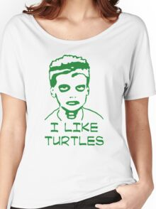 I LIKE TURTLES  FUNNY ZOMBIE Women's Relaxed Fit T-Shirt