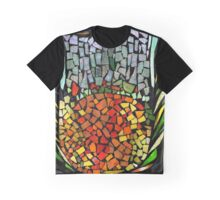 RECYCLED GLASS MOSAIC - Orange, green, mother of pearl. Graphic T-Shirt