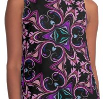 Abstract Floral Swirls and Flourishes  Contrast Tank