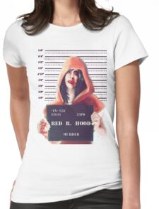 Red ridding hood mugshot Womens Fitted T-Shirt