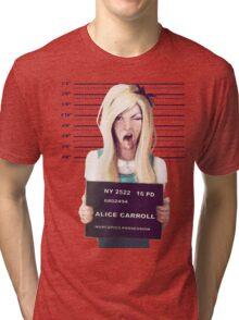 Alice mugshot Tri-blend T-Shirt