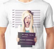 Alice mugshot Unisex T-Shirt