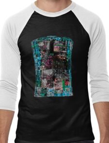 Abstract Contemporary City Street Style Men's Baseball ¾ T-Shirt