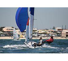 Sailing off Chelsea Beach Photographic Print