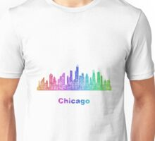 Rainbow Chicago skyline Unisex T-Shirt