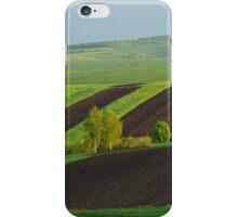 Green Yellow Black Field iPhone Case/Skin