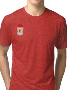 Pixel Santa Tri-blend T-Shirt