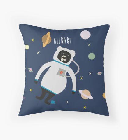 Allbärt. Bear in Space. Throw Pillow