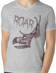 Triceratops Roar!  Mens V-Neck T-Shirt