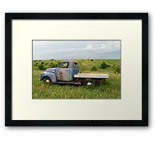 Blue Chevrolet Side Framed Print