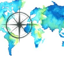 World Map - COMPASS Sticker