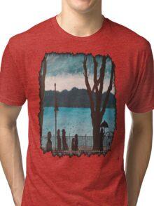 Evening lake Tri-blend T-Shirt