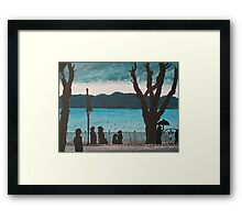 Evening lake Framed Print