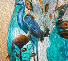 Moms Peacock Sticker