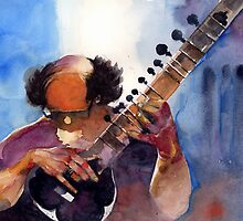 The sitar player by Alessandro Andreuccetti