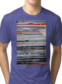 old vinyl records Tri-blend T-Shirt