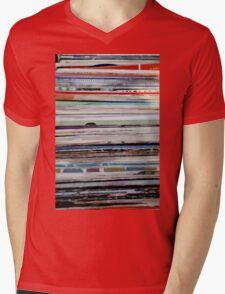 old vinyl records Mens V-Neck T-Shirt