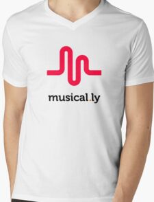 life & music t-shirt,musical.ly Mens V-Neck T-Shirt
