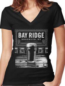 Bay Ridge, Brooklyn, NY Women's Fitted V-Neck T-Shirt