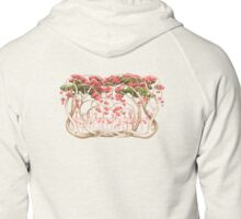 Flamingos in the Flame Trees Zipped Hoodie