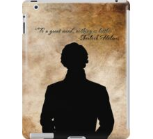 Sherlock Holmes Benedict Cumberbatch version iPad Case/Skin