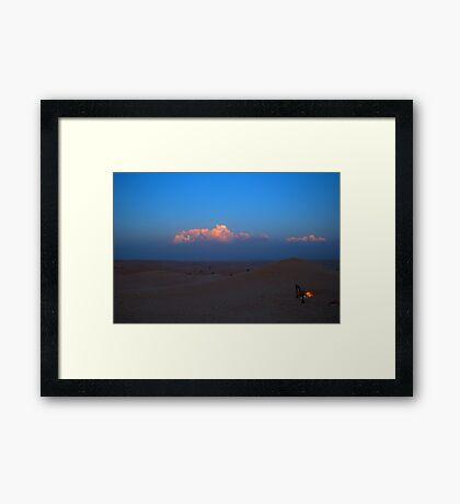 Desert Fire at Sunset Framed Print